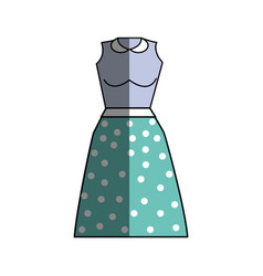 Casual blouse and skirt cloth style vector