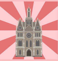 cathedral catholic church temple traditional vector image