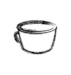 Coffee cup beverage fresh sketch vector