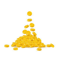 coin treasure heap vector image