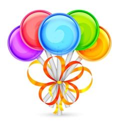 Color lollipops vector image