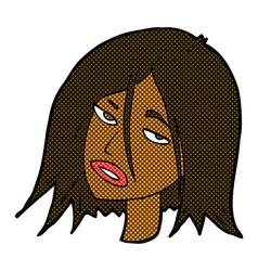 comic cartoon annoyed woman vector image vector image