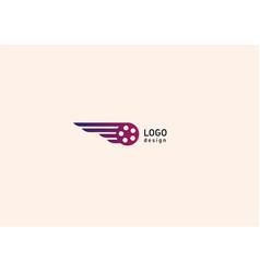 Development creative geometric bright logo flying vector