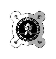 emblem cat hunter hipster city icon vector image