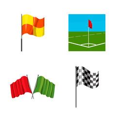 Flag icon set cartoon style vector