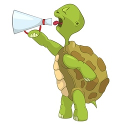 Funny Turtle Screaming vector image vector image