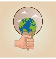 Global warming design Environment iconecology vector image