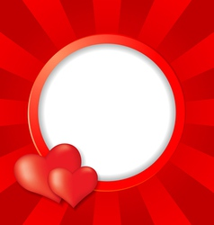 heart round vector image vector image