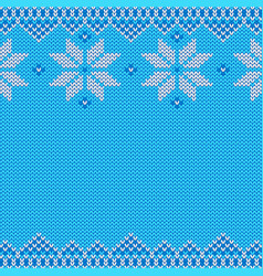 Knitted christmas and new year traditional pattern vector