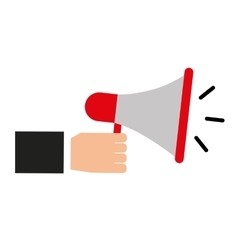 Megaphone device isolated icon vector