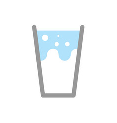 Milk in glass isolated splashes and drops vector