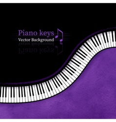 Piano keys background vector