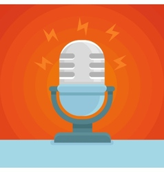 Podcast icon in flat icon vector