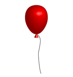 Realistic red balloon on white background 3d red vector