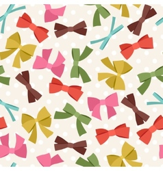 Seamless pattern with abstract various bows and vector image vector image