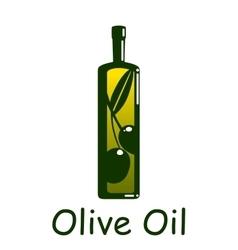 Silhouette of olive oil bottle vector