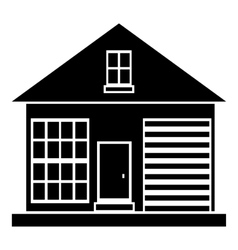Small rural house icon simple style vector