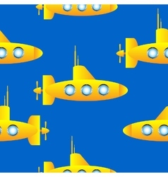 Submarine seamless pattern vector image