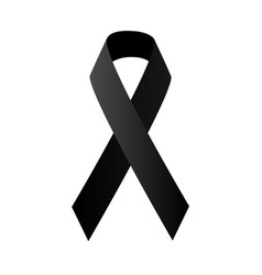 Symbolic black ribbon vector