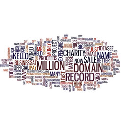 The most expensive domain name in history text vector