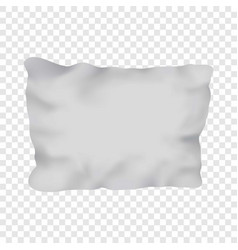 White rectangular pillow mockup realistic style vector