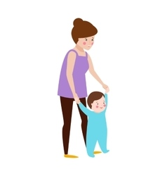 Young mother and baby character vector