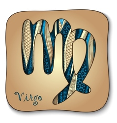 Zodiac sign - Virgo Doodle hand-drawn style vector image vector image