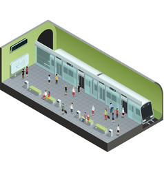 Subway station isometric vector