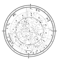 Astrological horoscope on january 1 2017 vector