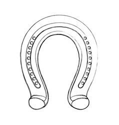 Horseshoe metalic isolated icon vector