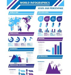 Infographic demographics 9 purple vector
