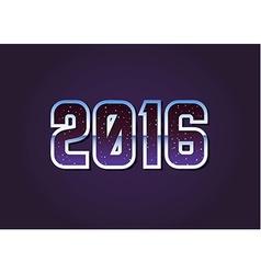 2016 Universe 80s Retro Sci-Fi Font Alphabet vector image vector image