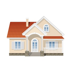 Residential house isolated vector
