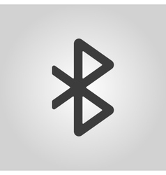 The bluetooth icon network and transmission vector