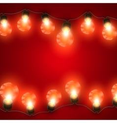 Luminous electric garland vector