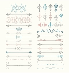 Colorful hand drawn dividers arrows vector
