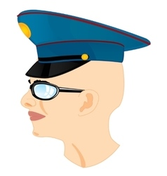 Man in service cap vector