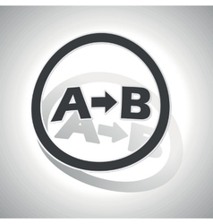 A-b logic sign sticker curved vector
