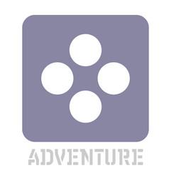 Adventure conceptual graphic icon vector