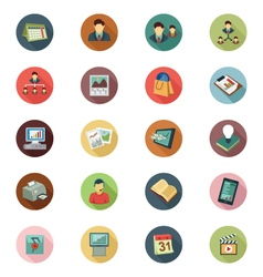 Business Flat Colored Icons 2 vector image vector image