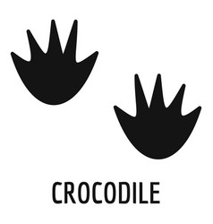 crocodile step icon simple style vector image