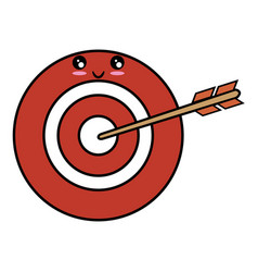 Dartboard with arrow vector