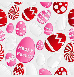 easter eggs design from color paper pattern vector image vector image