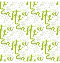 Easter pattern with decorated hand lettering word vector image vector image