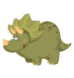 fat dinosaur vector image vector image