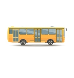 flat design public transport vehicle city bus vector image