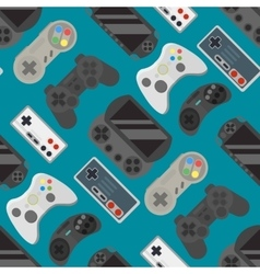 Gamepad colorful seamless pattern vector image vector image
