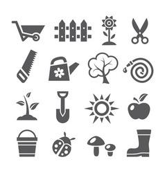 Gardening icons vector