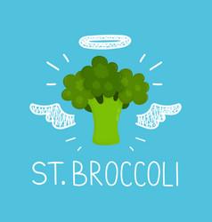 heaven broccoli concept st broccoli vector image vector image