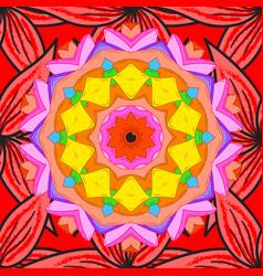 Indian flower mandala anti-stress mandala vector